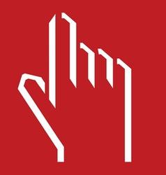 ruka svedena5 vector image vector image
