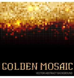 Shining abstract dark mosaic background vector image