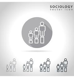 Sociology outline icon vector