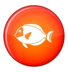 Surgeon fish icon flat style vector