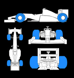 tires racing car vector image vector image