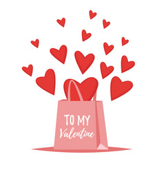 valentines day romantic gift vector image