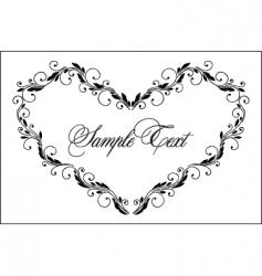Vintage heart frame vector