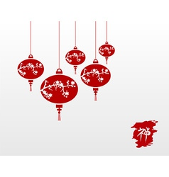 Zen chinese lamps background vector