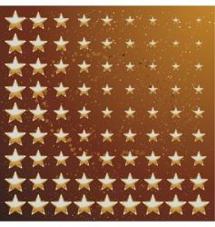 gold star backround vector image