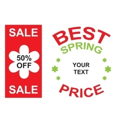 Big sale and best spring price announcement vector