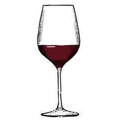 Cartoon image of wine icon wine glass symbol vector