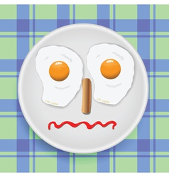 Breakfast for child vector