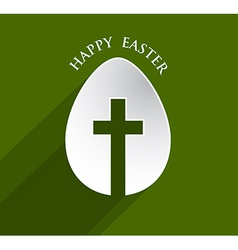 Cross easter egg vector