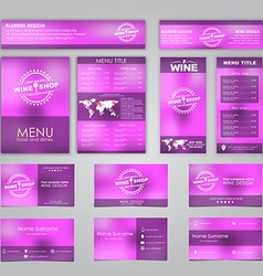 Set of corporate identity vector