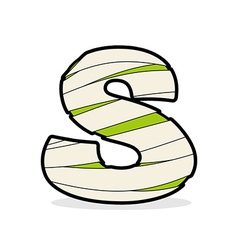 Letter s egyptian zombies mummy abc icon coiled vector