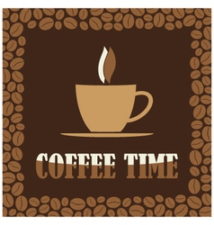 Coffee time or break design card vector