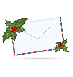 Gift letter with christmas berry - vector