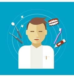 dentist occupation vector image
