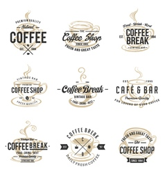 Vintage coffee shop logo design vector