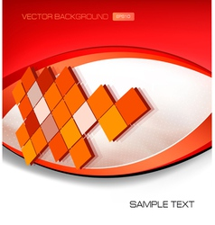 abstract red background with mosaic vector image vector image