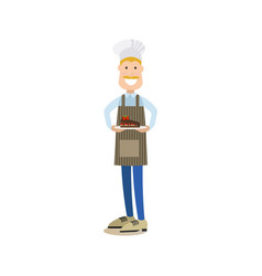 Baker in flat style vector