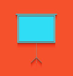 Blank projection screen whitish icon on vector
