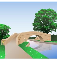 Canal bridge vector