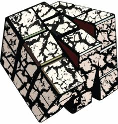 Cracked cube vector
