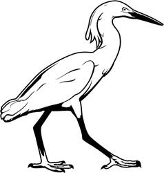 Crane-bird vector image