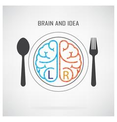 Creative left brain and right brain idea concept b vector