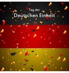 Day of german unity design tag der deutschen vector