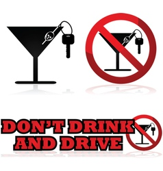 Do not drink and drive vector image vector image