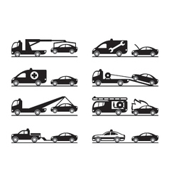 Emergency situations on road vector image vector image