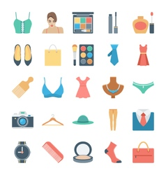 Fashion and clothes icons 1 vector