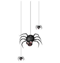 Funny spider cartoon family vector