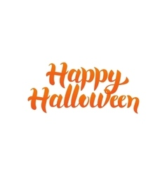 Happy halloween quote vector