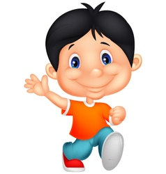 Happy little boy cartoon vector