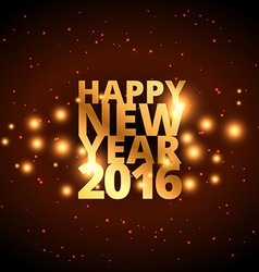 happy new year in golden style vector image