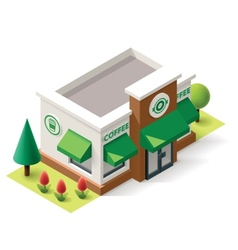 isometric coffee shop vector image