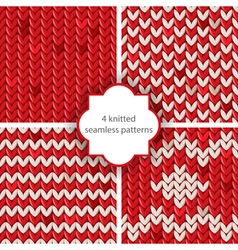 knitted patterns vector image vector image
