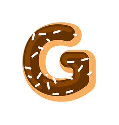 letter g donut font doughnut alphabet sweet vector image vector image