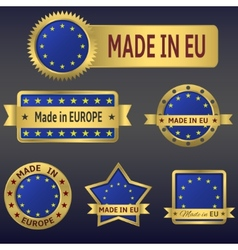 Made in europe vector