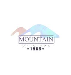 mountain original 1965 logo tourism hiking and vector image vector image