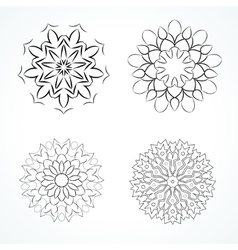 Ornamental round vector