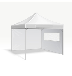 Promotional advertising folding tent vector