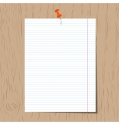 Realistic lined notebook paper vector