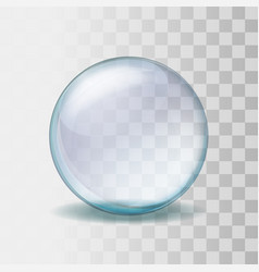 Realistic transparent glass sphere vector