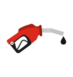 Red gas station gun flat icon vector image vector image