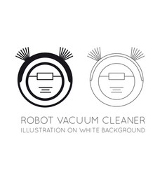 Robot vacuum cleaner on a white background vector