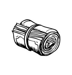 Roll of money sketch icon vector image vector image