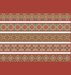 seamless decorative borders vector image