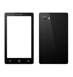 Smartphone on white background mobile phone vector