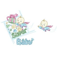 Super Baby vector image