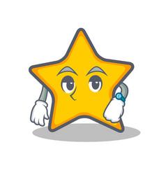 Waiting star character cartoon style vector